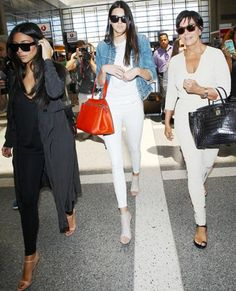 145 Celebrity-Inspired Outfits to Wear on a Plane - Kim Kardashian, Kendall Jenner and Kris Jenner from #InStyle