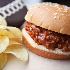 """This classic """"Sloppy Joe"""" sandwich has been served for the Franklin Park, IL PTA School BBQ Day since the fifties. Cold weather comfort, for sure!"""