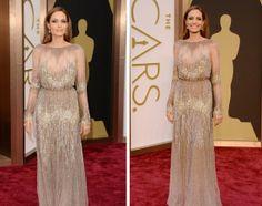 Angelina Jolie - Oscar 2014 Vestidos do Oscar 2014 http://vilamulher.com.br/moda/estilo-e-tendencias/os-vestidos-do-oscar-2014-14-1-32-2872.html?origem=pinterest