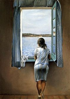 """""""Woman In The Window"""" by Salvador Dali"""