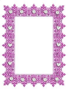 Pink Transparent Frame with Diamonds