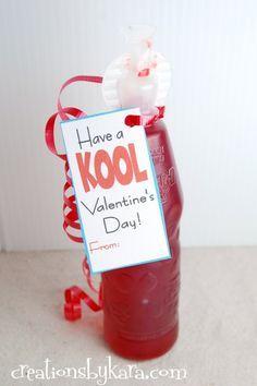 Creations by Kara: Free printable Valentines Day tag-- Kool-Aid