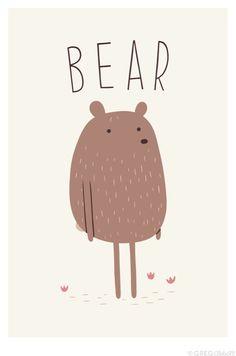 What a cute #bear #poster  http://www.gregabbott.co/post/51712341832/bear
