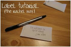 ps i quilt: label tutorial. {the rachel way.}  Get my label done from Spoonflower, Heat-n-bond and sharpie marker.