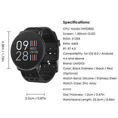 UMIDIGI Uwatch Smart Watch - US$29.99 Sales Online black - Tomtop Smartwatch, Apple Technology, Watch Case, Stainless Steel Watch, Watch Bands, Watches, Black, Smart Watch, Wristwatches