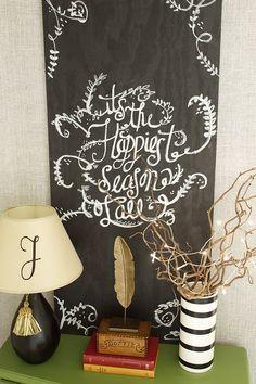 Christmas Chalkboard Art - Laurie Jones Home