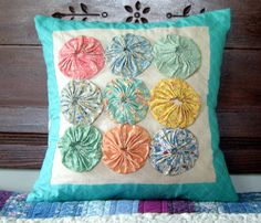 would like to make a pillow similar to this (different colors)....from etsy