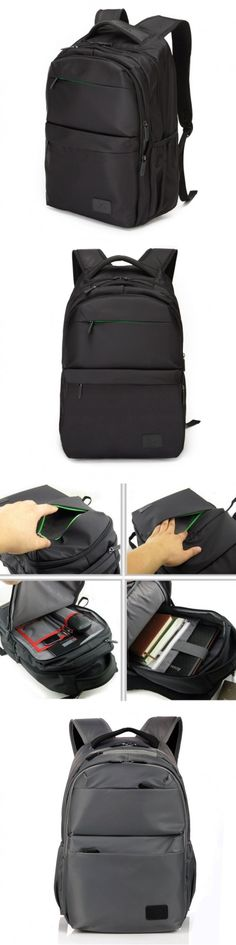 Laptop Backpacks Travel Soft Handle Water Repellent Business Have Vertical Square Section.