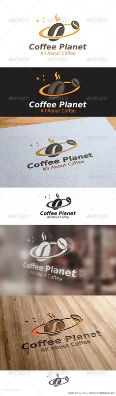Coffee Planet  - Logo Design Template Vector #logotype Download it here: http://graphicriver.net/item/coffee-planet-logo/8507701?s_rank=1059?ref=nexion