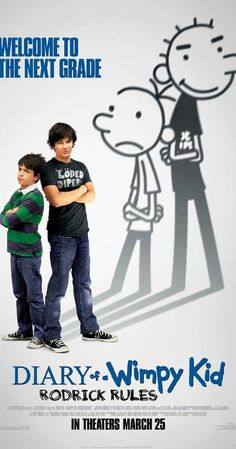 Directed by David Bowers. With Zachary Gordon, Devon Bostick, Robert Capron, Rachael Harris. Back in middle school after summer vacation, Greg Heffley and his older brother Rodrick must deal with their parents' misguided attempts to have them bond.