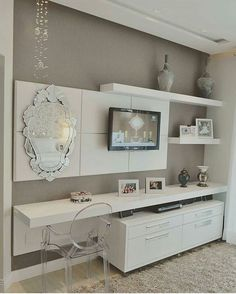 New House Ideas Interior Design Small Spaces Ideas Small Home Offices, Small Apartments, Small Spaces, Tv In Bedroom, Master Room, Living Room Decor, Bedroom Decor, Wall Decor, Suites