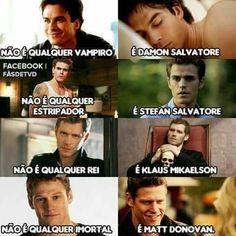 Não é qualquer história de vampiro... É the vampire diaries❤