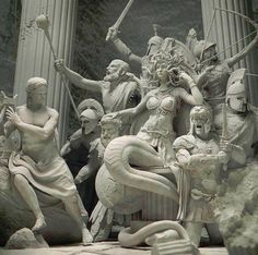 greek statue In Greek mythology, Medusa was a monster, a Gorgon, generally described as a winged human female with living venomous snakes in place of Medusa Kunst, Medusa Art, Greek And Roman Mythology, Greek Gods, Medusa Greek Mythology, Greece Mythology, Art Sculpture, Sculptures, Turn To Stone