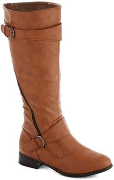 Modcloth Brown Adventures in Asheville Boot