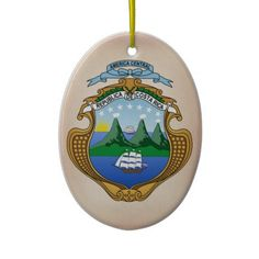 Costa Rica Coat of Arms Ornament