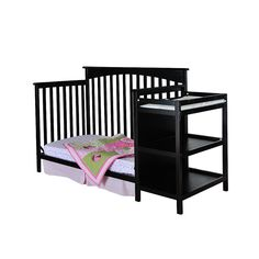 """Dream On Me Chloe 4-in-1 Convertible Crib with Changer - Black - Dream On Me - Babies """"R"""" Us"""