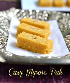EASY MYSORE PAK RECIPE- 3 MINUTES MICROWAVE SWEET RECIPES | Chitra's Food Book