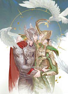 Read Thorki from the story Imagenes yaoi Marvel & DC by MuSeSipider with reads. Loki Thor, Loki Laufeyson, Tom Hiddleston Loki, Marvel Dc, Marvel Films, Marvel Memes, Loki Fan Art, Marvel Couples, Anime Love