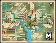 Amazing 8-bit map of the Washington, DC Metro!