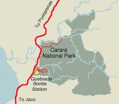 Trail Map Carara National Park