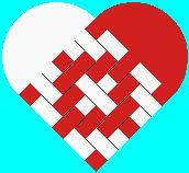Danish woven heart damask by Eric Gimmerskov