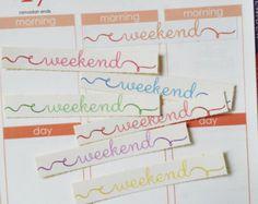 Weekend Planner Stickers - For Erin Condren Life Planners