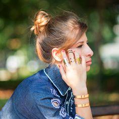 Os anéis Bemglô ficam lindos juntos <3 Conheça todos os acessórios lá no site, vem!