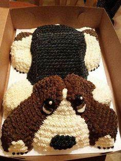 Is this the best basset hound birthday cake ever? - Basset Hound World Puppy Birthday Cakes, Shopkins Birthday Cake, Homemade Birthday Cakes, Cool Birthday Cakes, Dog Birthday, Cupcakes, Cupcake Cakes, We Take The Cake, Cake Roll Recipes