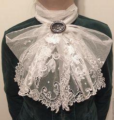 Купить Старинный кружевной шарф ручной работы. Франция - белый, старинный шарф, кружевной шарф