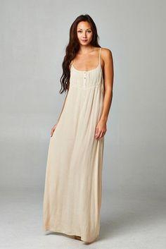 Simpler Times Natural Maxi Dress
