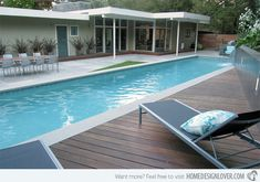 """Pool Deck is Ipe, the pool coping is a light grey limestone and the paving is concrete pavers in """"porcelain. Concrete Patios, Stain Concrete, Concrete Garden, White Concrete, Pool Coping, Swimming Pool Decks, Swimming Pool Designs, Lap Swimming, Lap Pools"""