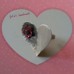 Δαχτυλίδι χειροποίητο καρδιά !!!!!