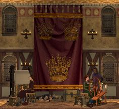 The Medieval Smithy Wawa's Whacky 4 Wallhangings! Red Bluff, Banner, Cerulean, Corinthian, Sims 2, Middle Ages, Original Image, Plumbing, Medieval
