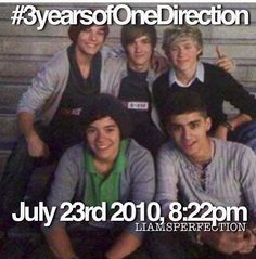 Happy 3 Year Anniversary One Direction