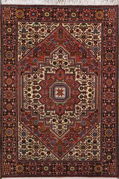 "Bijar Persian Rug, Buy Handmade Bijar Persian Rug 3' 3"" x 5' 0"", Authentic Persian Rug $731.00"