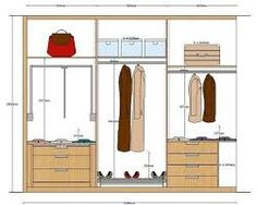 Resultado de imagen para medidas para cajones en closets