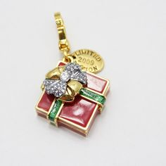 juicy enamel glaze craft inlay the Czech crystal drill the packing pendant ESC019390