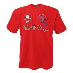 T-Shirt mit Aufdruck Rot