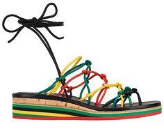 Chloé sandales Jamie en cuir multicolore