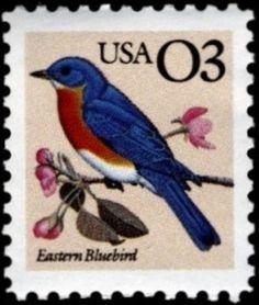 1991 3c Eastern Bluebird Scott 2478 Mint F/VF NH  www.saratogatrading.com