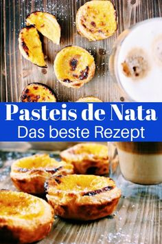 Pasteis de Nata recipe: Delicious pudding tarts from Portugal (Pastel de Nata) - Travel on Toast Natas Recipe, Toast Pizza, French Toast Casserole, Foodie Travel, Food And Drink, Breakfast, Bank Check, Amazing, Mini Cupcakes