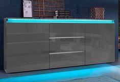 Tecnos Sideboard, Breite 180 cm für 299,99€. 2 Türen, 3 Schubkästen, Maße (B/T/H): 180/40/81, FSC®-zertifizierter Holzwerkstoff, Softgriffe bei OTTO
