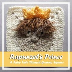 Rapunzel's Prince - free crochet pattern by Creative Crochet Workshop at Oombawka Design. Fairy tale themed squares no.7