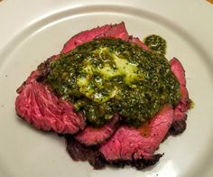 Hanger Steak prepared Sous-Vide makes this a prized carnivore delight that sits on top of the food chain. Real beefy flavor and richness...