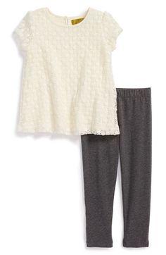 Nicole Miller Crochet Tunic & Leggings (Baby Girls) available at #Nordstrom