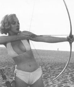 Marilyn as Diana, the Huntress...