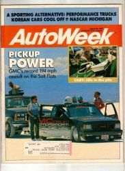 AutoWeek Car Magazine August 28 1989 NASCAR GMC Truck CART Racing