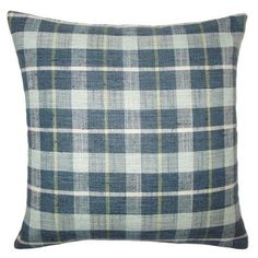 The Pillow Collection Quinto Plaid Throw Pillow