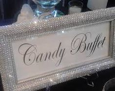 DIY Winter Wedding Party Ideas for Couples - DIY Cuteness ideas for birthday Candy Buffet Signs, Candy Buffet Tables, Bling Candy Buffet, Dessert Table, Wedding Candy Buffet, Bling Party, Party Party, Bar A Bonbon, Diamond Party