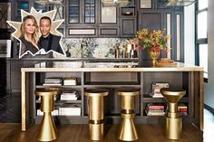 To start of 2015 with some serious inspiration are Chrissy Teigen and John Legend who opened up their Manhattan home to Architectural Digest. Architectural Digest, Design Blog, Home Design, Layout Design, Design Homes, Design Trends, Celebrity Kitchens, Celebrity Houses, Farrow Ball